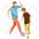 Playing Football Icon