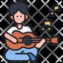 Playing Guitar Guitar Playing Music Icon