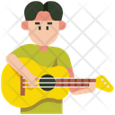 Playing Guitar Hobby Guitar Icon