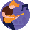 Playing Guitar Icon