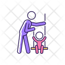 Playing On Swings Icon