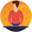 Pianist Playing Piano Musical Instrument Icon