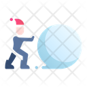 Playing snowball Icon