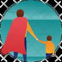 Playing With Son Fatherhood Parenthood Icon