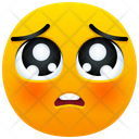 Pleading Face Emoji Emotion Icon