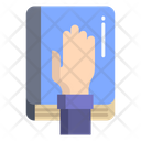 Artboard Pledge Hand Icon