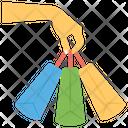 Plenty Of Shopping Shopping Bag Grocery Bag Icon