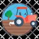 Tractor Farming Agronomy Icon