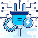 Plug Power Electric Icon