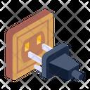 Plug In Switch Cord Plug Receptacle Icon