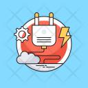Plugin Electricity Cogwheel Icon