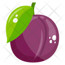 Plum Fruit Healthy Food Icon