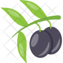 Plum Purple Fruit Icon