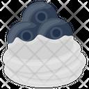 Plum Cream Plum Whip Whipped Cream Icon
