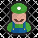 Plumber Nintendo Luigi Icon