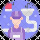 Plumber Repairman Serviceman Icon