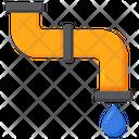 Plumbing Water Drop Pipe Icon