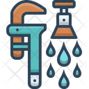 Plumbing Service Repair Wrench Icon