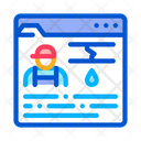 Plumber Site Profession Icon