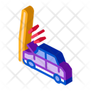 Plunging Car Icon