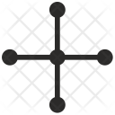 Plus Cross Geometry Icon