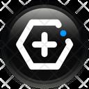 Sign Hexagon Plus Icon