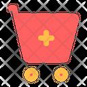 Plus Trolley Cart Icon