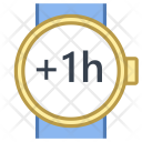 Plus one hour Icon