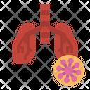 Pneumonia Lung Breath Icon