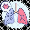Pneumonia Lungs Coronavirus Covid Icon