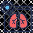 Pneumonia Lungs Coronavirus Fluorography Icon