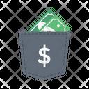 Pocket Cash Saving Icon