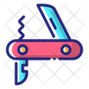 Pocketknife Camping Adventure Icon