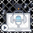 Mic Recording Microphone Voice Recorder Icon