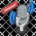 Podcast Microphone Media Icon