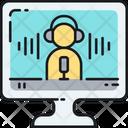 Podcast Online Radio Microphone Icon