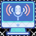 Podcast Broadcast Audio Icon