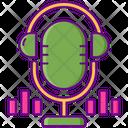 Podcast Boadcast Mic Icon