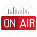 Podcast On Air On Air Broadcast Icon