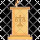 Podium Court Tribunal Icon
