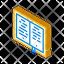 Poetry Book Isometric Icon