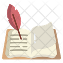 Poetry Feather Paper Icon