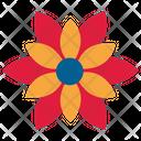 Poinsettia Flowers Icon