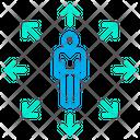 Person Arrow Editing Tool Icon