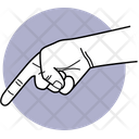 Pointing Hand Direction Showing Icon