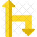 Pointing Arrows Right Downward Arrows Upward Arrows Icon