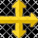 Pointing Arrows Symbols Gps Icon
