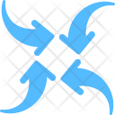 Pointing Center Arrows Icon