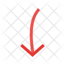 Pointing Down Arrow Icon