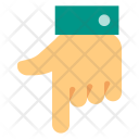 Pointing down Icon